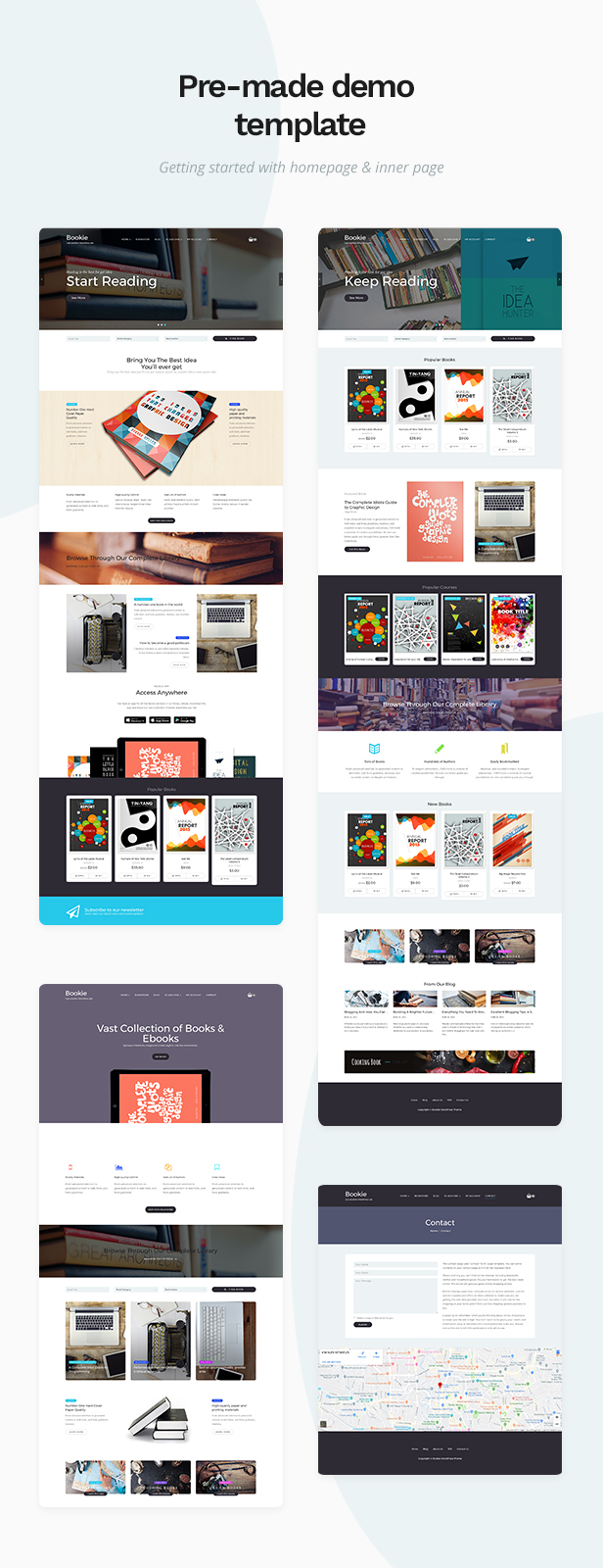 Bookie - WordPress Theme for Books Store - 1