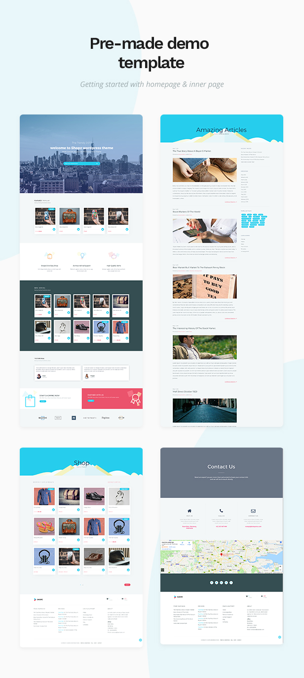 Shopz - eCommerce WordPress Theme - 1